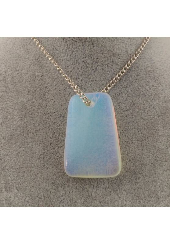 Pendant Gemstone in OPALITE POLISHED Necklace Charm Chain Jewel Gift Idea-2